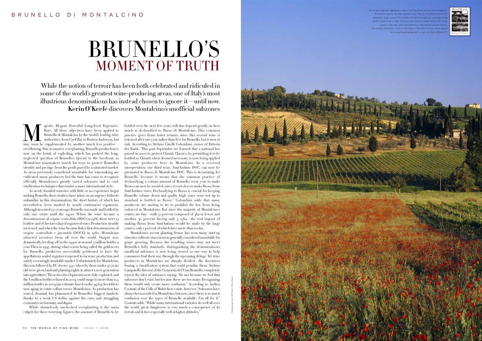 Brunello's Moment of Truth