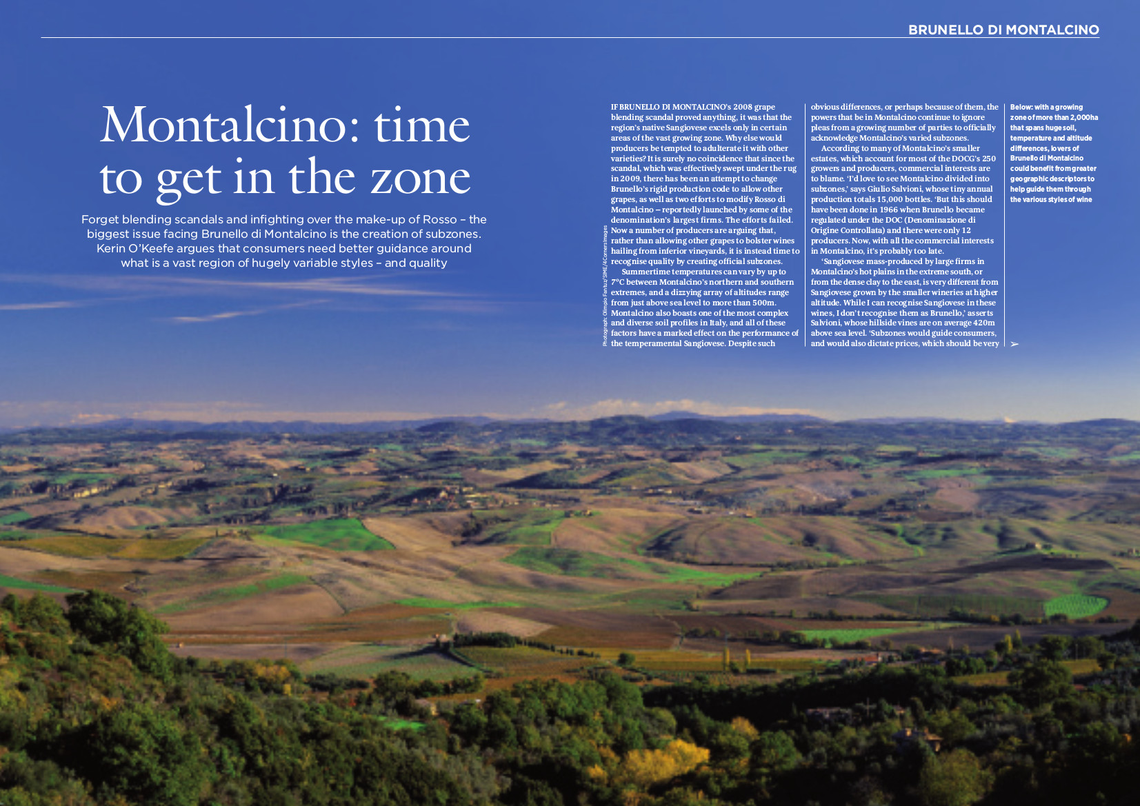 Montalcino: time to get in the zone