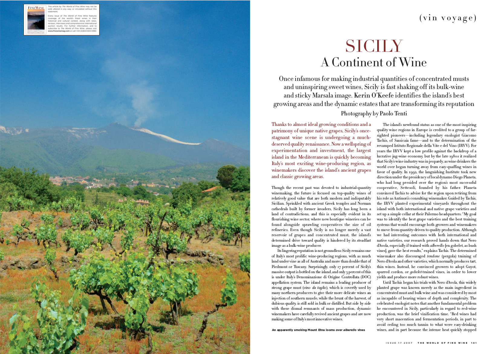 Sicily. A continent of wine