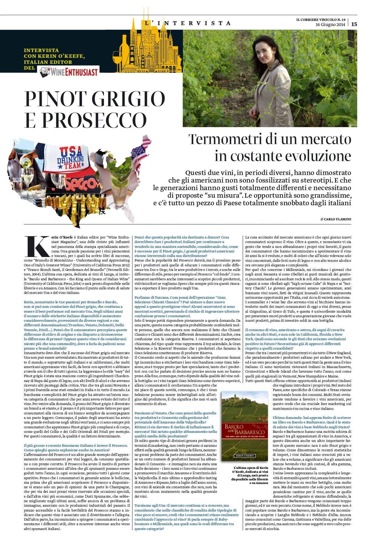Pinot Grigio e Prosecco. Termometri di un mercato in costante evoluzione